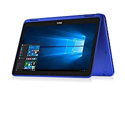 "Dell Inspiron 11.6"" HD Anti-glare Touchscreen Signature Edition 2-in-1 Laptop, Intel Celeron Dual Core Processor up to 2.48 GHz, 4GB RAM, 32GB SSD, Webcam, Bluetooth, Windows 10, Blue"