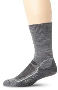 Icebreaker Men's Hike+ Lite Crew Socks (Twister/Silver/Oil, Large)