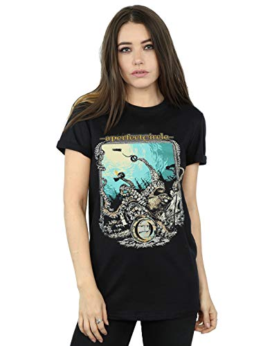 (A Perfect Circle Women's The Depths Boyfriend Fit T-Shirt Black)