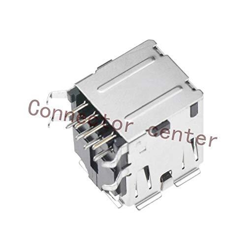 Gimax Dual USB Connector USB 2.0 Right Angle Original UB11123-8HD4-4F