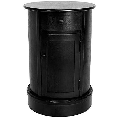 Amazon.com: Oriental Muebles Oval 1 cajón, mesita de noche ...