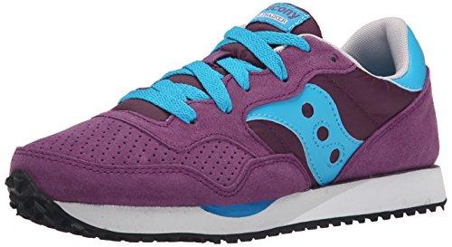 Originals Womens Classic Shoes - Saucony Originals Women's Dxn Trainer Classic Retro Running Shoe, Purple/Blue, 9.5 M US