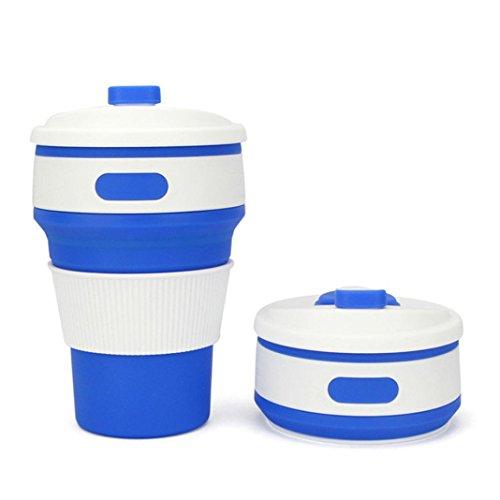 Rumas® 350 ML Premium Tea Coffee Cup with Lip, Leakproof Portable Collapsible Water Cup for Women Men (Dark Blue) (Dark Drinks Rum)
