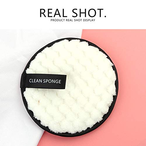 Clearance Sale!UMFun MAANGE Makeup Remover towel Face Cleansing Cloth Pads Plush puff Fashion New (White) ()