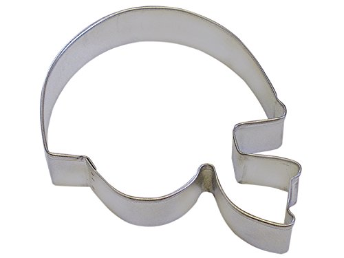 CybrTrayd R&M Football Helmet Tinplate Steel Cookie Cutter, 4.5-Inch, Silver, Lot of 12