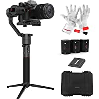 MOZA AirCross 3 Axis Handheld Gimbal for Mirrorless Camera up to 3.9lb/1800g Parameter Auto-Tuning Long Exposure Time-lapse 4 Gimbal Mode 12hrs Runtime Multi-Control Methods