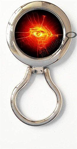 BlackKey Egyptian Symbol Eye of Horus Magnetic Metal Eyeglass Badge Holder, Eye Glass Holding Brooch -134