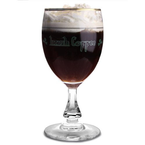 ARC 57966 Goblet Irishcoffee Decorated Glass, 24 cl, Clear/Multi-Coloured Pengo