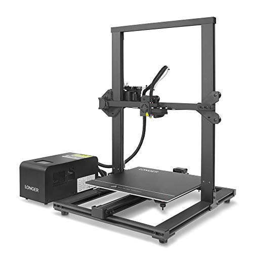 LONGER LK1 90 PreAssembled 3D Printer with Large Build Size 300x300x400mm Full Touch Screen Filament Detector Resume Printing Full Metal Frame Black