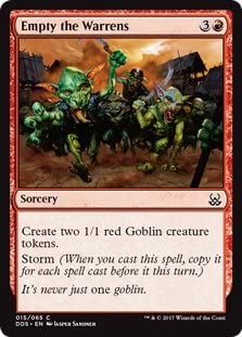 EMPTY THE WARRENS Time Spiral MTG Red Sorcery Com