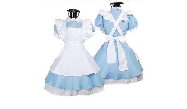Gorgeous Japonesa papel vestido azul lencería sexy traje de ...
