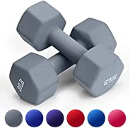 Dumbbell Set, TopMade 15lb 20lb A Pair Neoprene Coated Cast Iron Dumbbells Hand Weights Set Barbell Exercise F