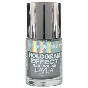 Layla Hologram Effect Nail Polish, Mercury Twilight, 1.9 Ounce