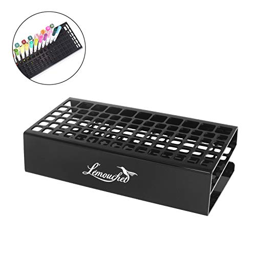 L'ÉMOUCHET 86 Hole Acrylic Pencil and Brush Pen Holder - Desk Stand Organizer Holder for Pens, Paint Brushes, Crayons Colored Pencils, Sketch Pencils, Tombow Watercolor Brush Pens