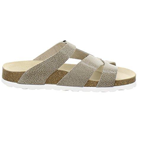 AFS-Schuhe 2122, Modische Damen-Pantoletten, Bequeme Hausschuhe Größe 41 Beige (Beige/Reptil)