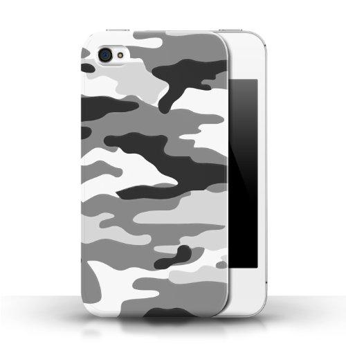 iCHOOSE Print Motif Coque de protection Case / Plastique manchon de telephone Coque pour Apple iPhone 4/4S / Collection Armée/Marine militaire/Camouflage / Blanc 2