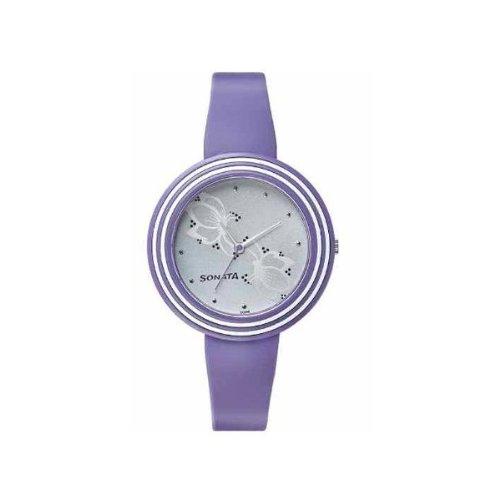 Sonata Analog Grey Dial Women #39;s Watch   8995PP02