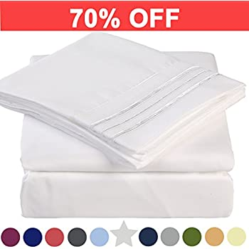 Microfiber Queen Size Bed Sheet Set - Extra Deep Pocket - Stain Resistant, Warm, Breathable And Hypoallergenic - 4 Piece (White) - TEKAMON