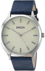 Breda Unisex 1706C Analog Display Japanese Quartz Blue Watch