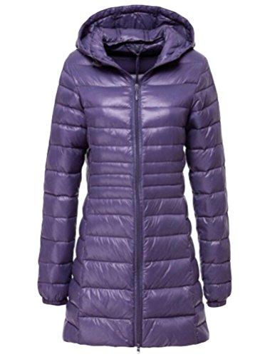 Portátil Abrigo de Chaqueta Mujer Plumón Cazadora Ligero Púrpura de Vogstyle Ultra SP5YqwHS