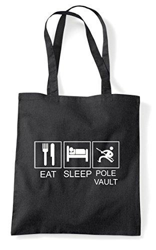 Hobby Tiles Funny Sleep Shopper Pole Black Bag Eat Activity Tote Vault X47wxx