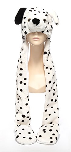 Funnie Dalmatian Bolt Animal Hats Gloves Scarf 3 in 1 Set Hood Toy (Dalmatian Costumes For Toddlers)