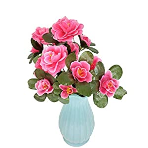 MARJON FlowersHigh Small Azalea Fake Flower Full Bloom Artificial Flowers for DIY Bouquets Wedding Party Home Decor Offices 30