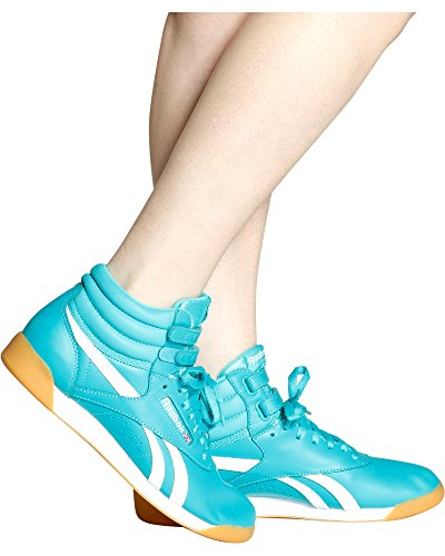 Reebok Freestyle Hi Suede Shoe Women's Casual 9.5 Solid Teal-White-Gum