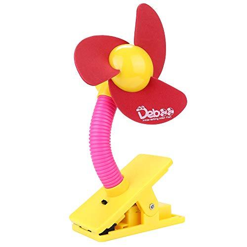 (Luca Safe Soft Blades Portable Flexible Clip On Mini Fan for Baby Pram Stroller Cot)