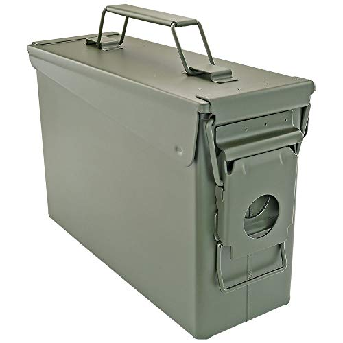 BOOMSTICK Gun Accessories .30 Cal Ammo CAN Ammo Box Ammunition Box 30 Cal Ammo Can Green Ammo Cans 30 Caliber Rounds Box OD Green Can