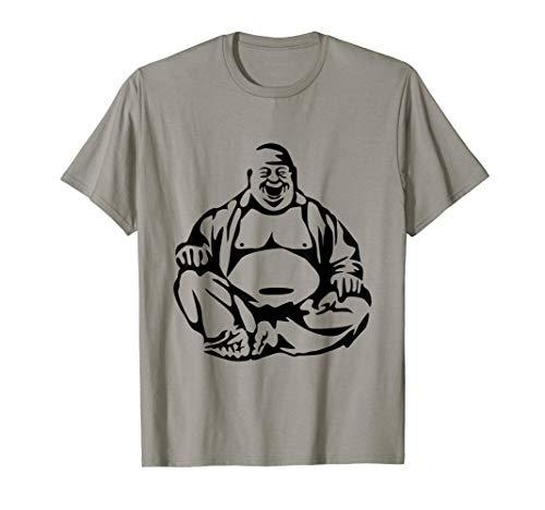 (Laughing Buddha T-Shirt Fat Budai Buddhism Graphic Tee )