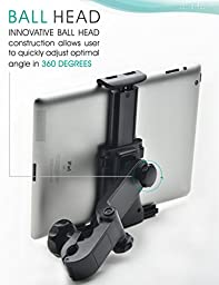 Bestrix Universal Headrest Cradle Car Mount Holder for iPad Air2/3/4/Mini, Galaxy Tab 3/4, Nexus 7, Kindle Fire HD 6/7 Fire HDX 7/8.9 Fire 2 and all Tablet Devices 7\