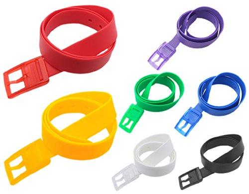 [해외]BONAMART ® 남성용 여성 유니섹스 고무 플라스틱 벨트 w 플라스틱 버클 119CM 캔디 색상/BONAMART ® Men Women Unisex Rubber Plastic Belt w Plastic Buckle 119CM Candy Color