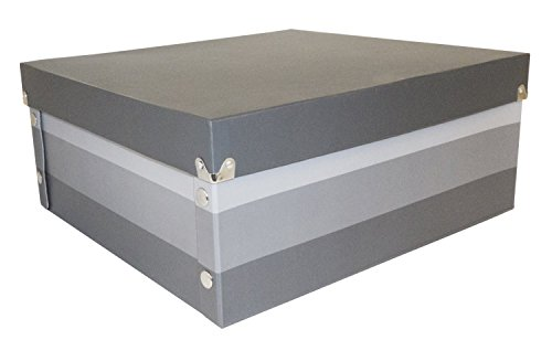 Snap-N-Store Gift Boxes, 16 x 6 x 15 Inches, Gray Stripe, 2 Pack - Box Gift Large