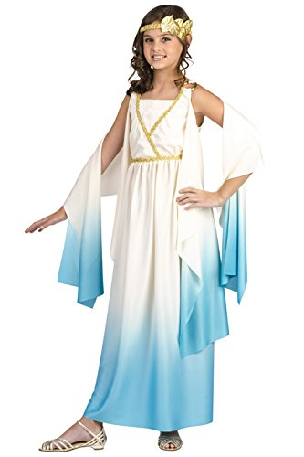 Greek Roman Costumes Halloween (Fun World Greek Goddess Child Costume Cream Large (12-14))