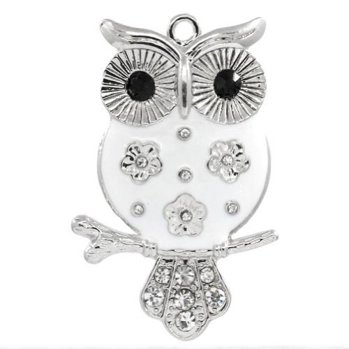 Housweety Pendants Rhinestone Animal 5 1cmx3 2cm