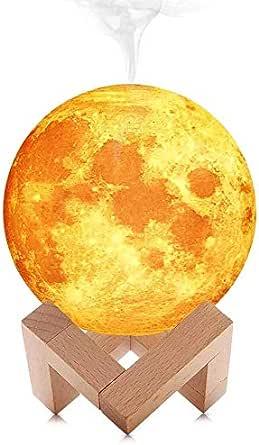 مصباح قمري بضوء ألوان ال اي دي للهواء تستخدم في السيارة ومكتبة عن طريق يو اس بي فواحة مرطبة للجو ومعطرة