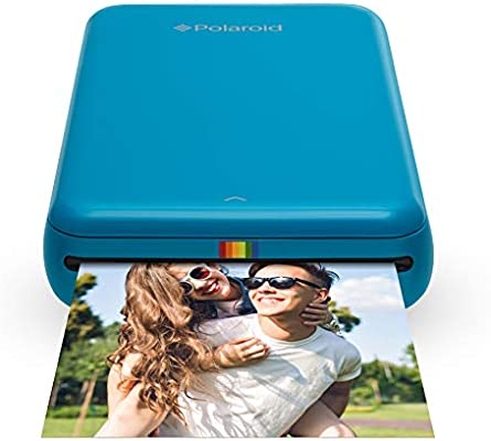 Polaroid Zip - Impresora móvil, Bluetooth, Nfc, micro USB, tecnología Zink Zero Ink, 5 x 7.6 cm, compatible con iOS y Android, azul, 2.2 x 7.4 x 12 cm