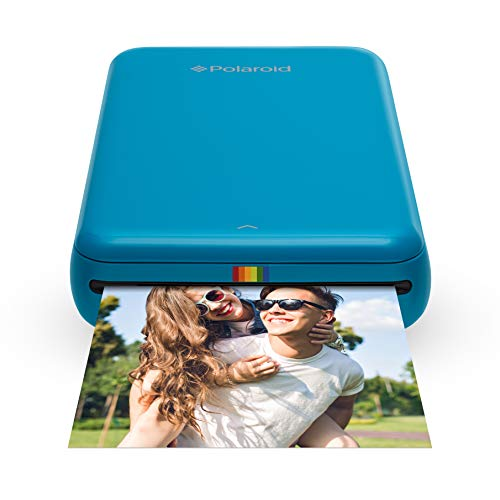 Polaroid Zip Wireless Mobile Photo Mini Printer (Blue) Compatible w/iOS & Android, NFC & Bluetooth Devices from Polaroid