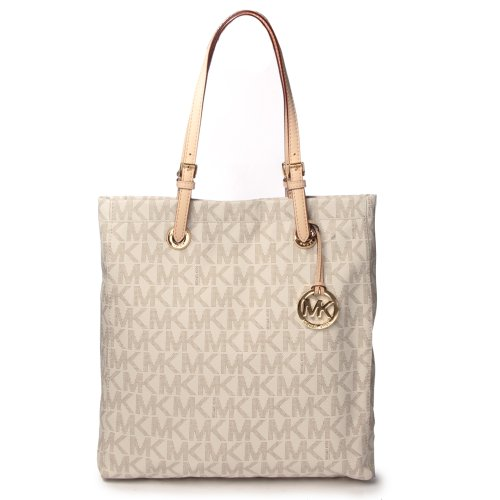 Michael Kors Signature Jet Set North South Tote PVC