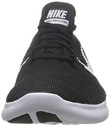 Nike Men\'s Free Rn Flyknit Black/White Running Shoe 10.5 Men US