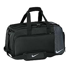 Nike Golf Sport II Duffle Bag, Black/Silver/Dark Grey