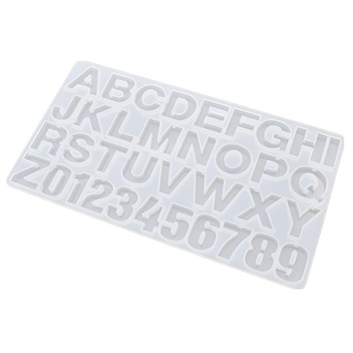 Alphabet Casting Mold (Silicon Letter Number Mold Clear Jewelry Casting Mould For Epoxy Resin Making 1)