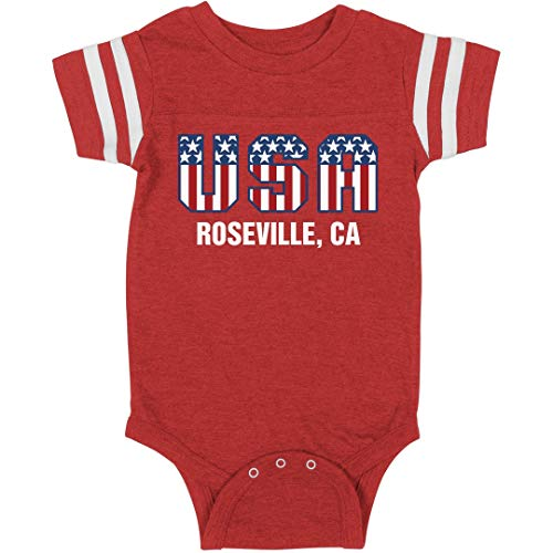 July 4th USA Baby Roseville, CA: Infant Rabbit Skins Football Bodysuit ()