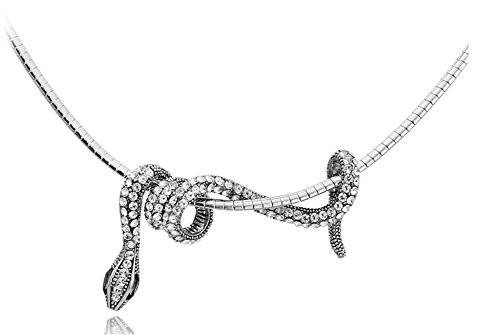 Hen-night Personality necklace crystal small snake winding shape (Animal Sterling Silver Necklace)
