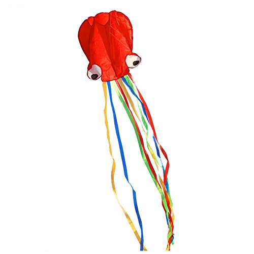 BeMax Beautiful Kites Soft Octopus Large Size easy flyer - Red with Long Tail by BeMax