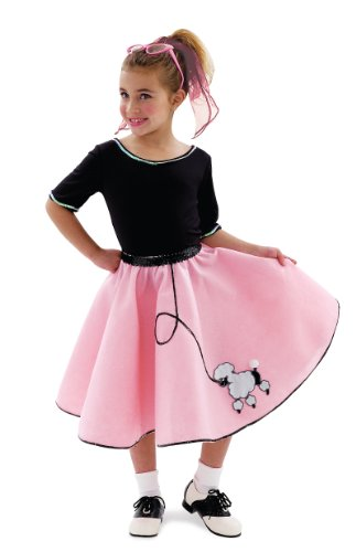 Girls Sock Hop Sweetie Costumes (Sock Hop Sweetie Child Costume (As Shown;X-Large))