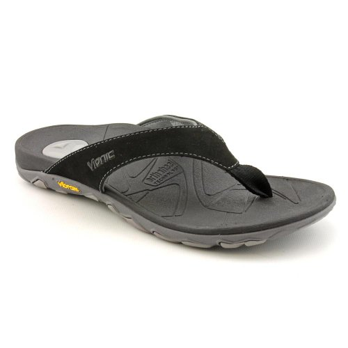 VIONIC with Orthaheel Technology Men's Bryce Black Sandal 7 M