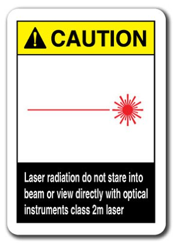 Caution Sign - Laser Radiation Do Not Stare Into Beam Or View Directly With Optical Instruments Class 2m Laser 7