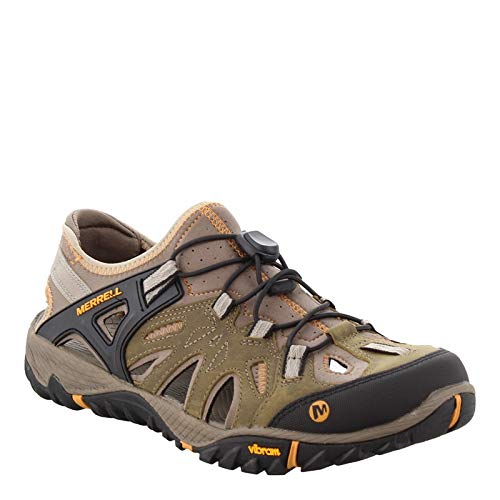 Merrell Men's All Out Blaze Sieve Water Shoe, Brindle/Butterscotch, 11 M US